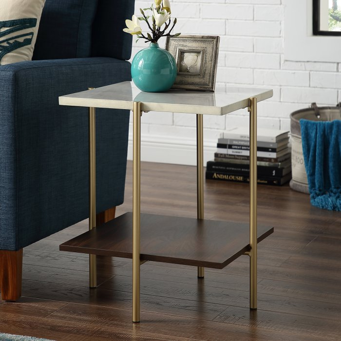 Manor Park Mid-Century Modern Square Side Table