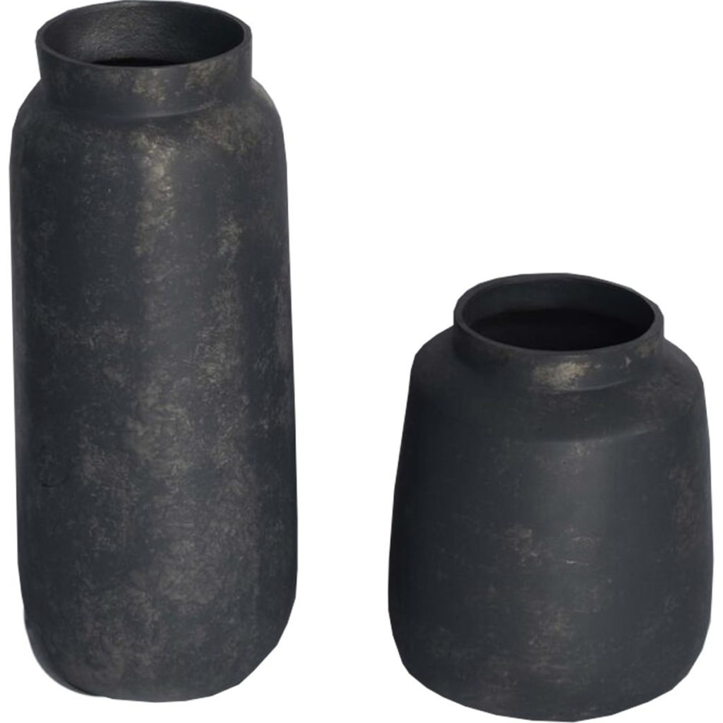 Carven Set of 2 - Rustic Aluminum Vases $262.00