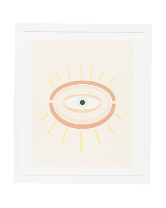 DENY DESIGNS 21x25 Gale Retro Evil Eye Framed Wall Art $29.99https://fave.co/2GMBn5F