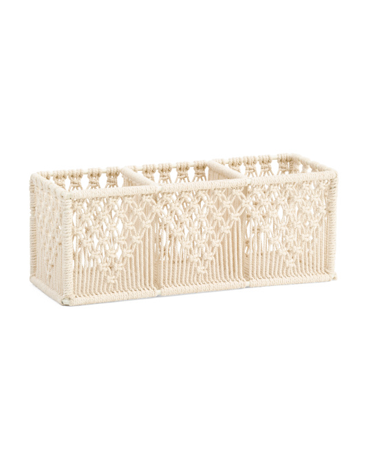 HANDCRAFTED IN INDIA Macrame Pencil Holder $14.99