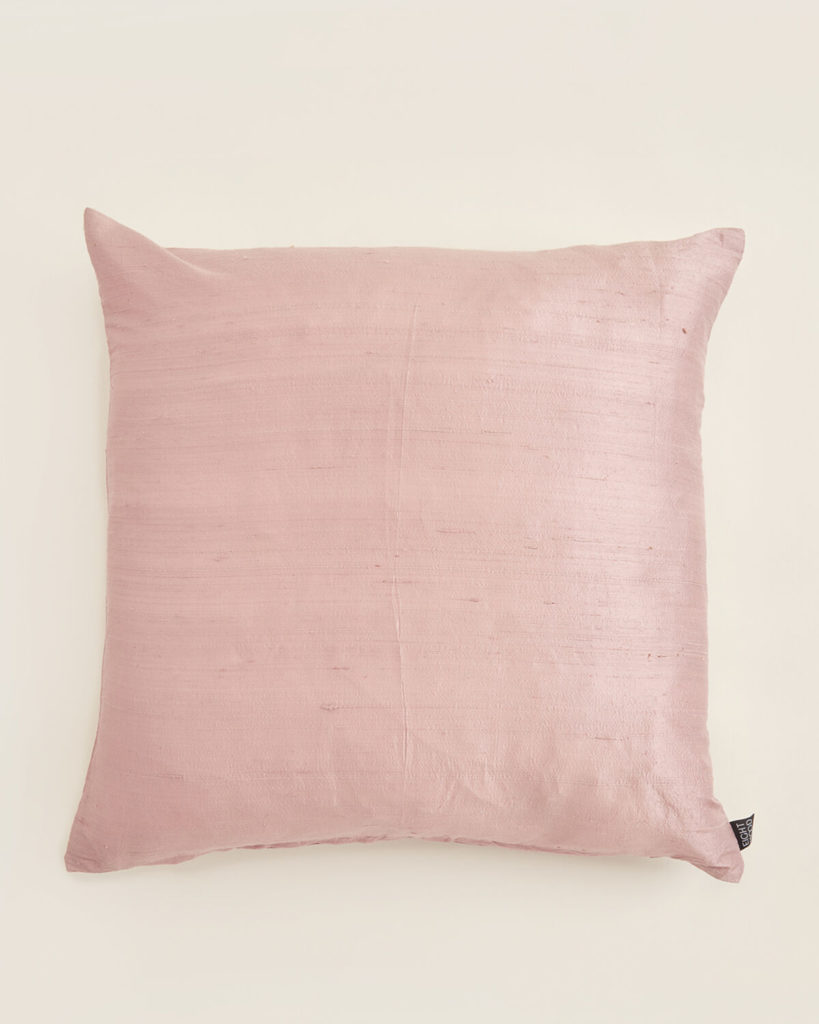 EIGHTMOOD Light Pink Dupion Silk Decorative Throw Pillow $19.99