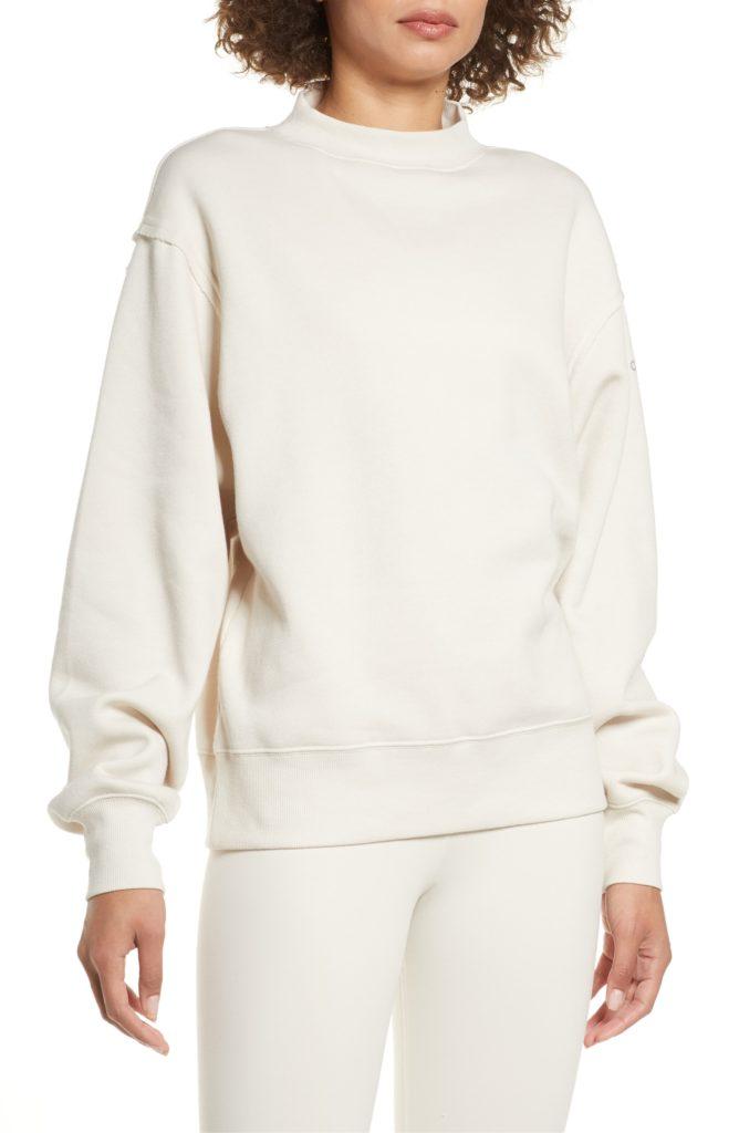Freestyle Mock Neck Sweatshirt ALO $81.00