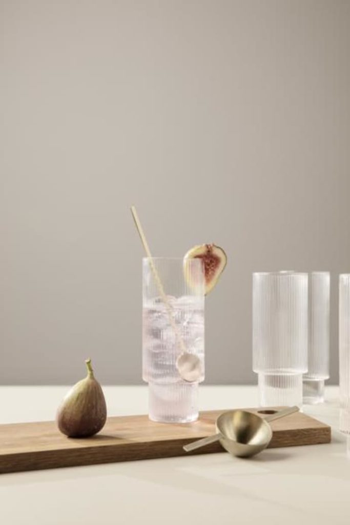 Set Of 4 Ripple Long Drink Glasses $71.49