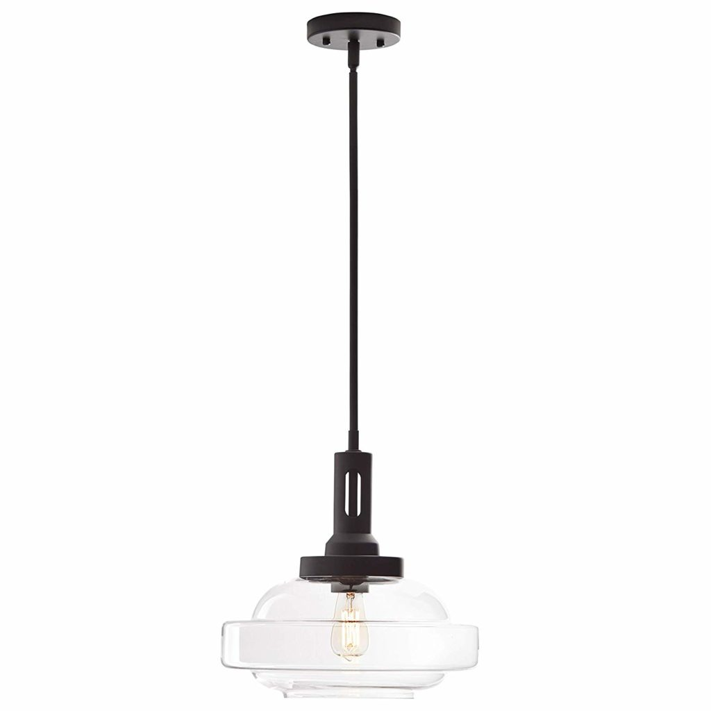 Mid Century Modern Industrial Glass Pendant Chandelier Fixture with Light Bulb $109.99 https://fave.co/3aCEOJi