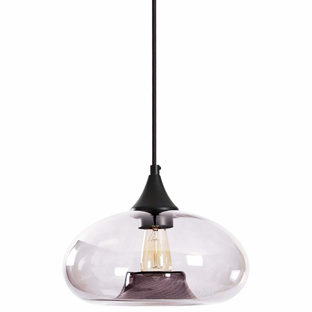 Mid-Century Tinted Glass Shade Pendant Light with Bulb $50.84 https://fave.co/3cHsRUc