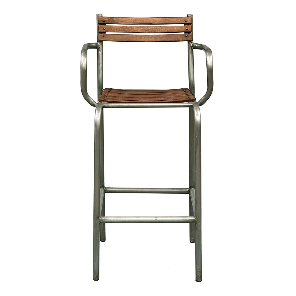 Pulaski Rustic Barclay Wood and Metal Frame Barstool $173.48 https://fave.co/2TLXjnx