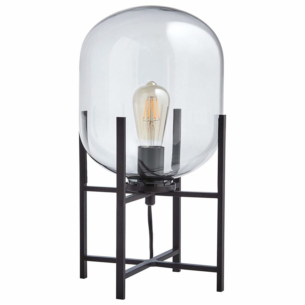Rivet Modern Industrial Metal Stand Table Desk Lamp With Light Bulb $148.50