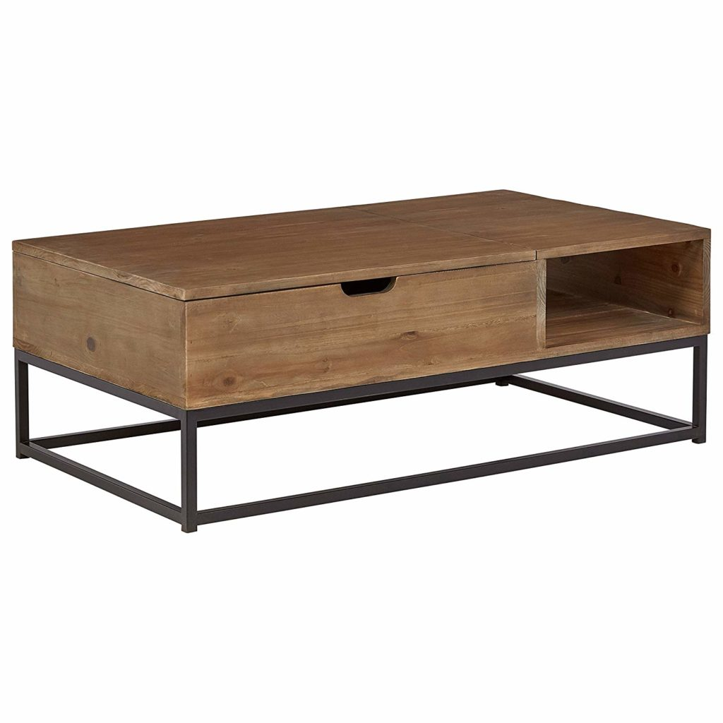 Modern Reclaimed Fir Wood Storage Coffee Table $548.90