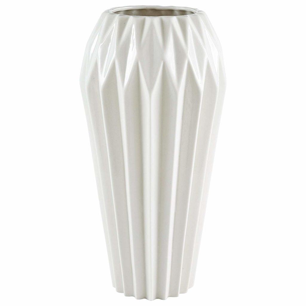 Modern Angled Stoneware Home Décor Flower Vase $29.99