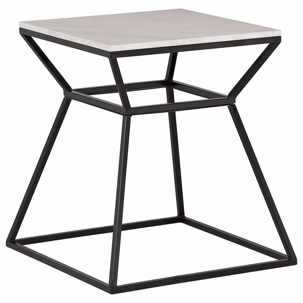 Mid-Century Modern White Marble and Metal Side End Table $152.90 https://fave.co/38xDkyq