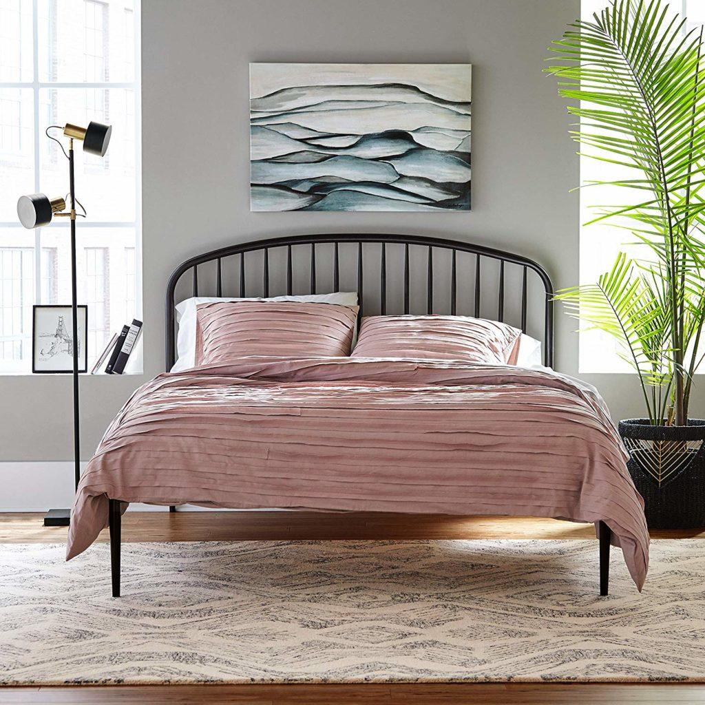 Rivet Fairmount Industrial Metal King Bed with Headboard $713.90