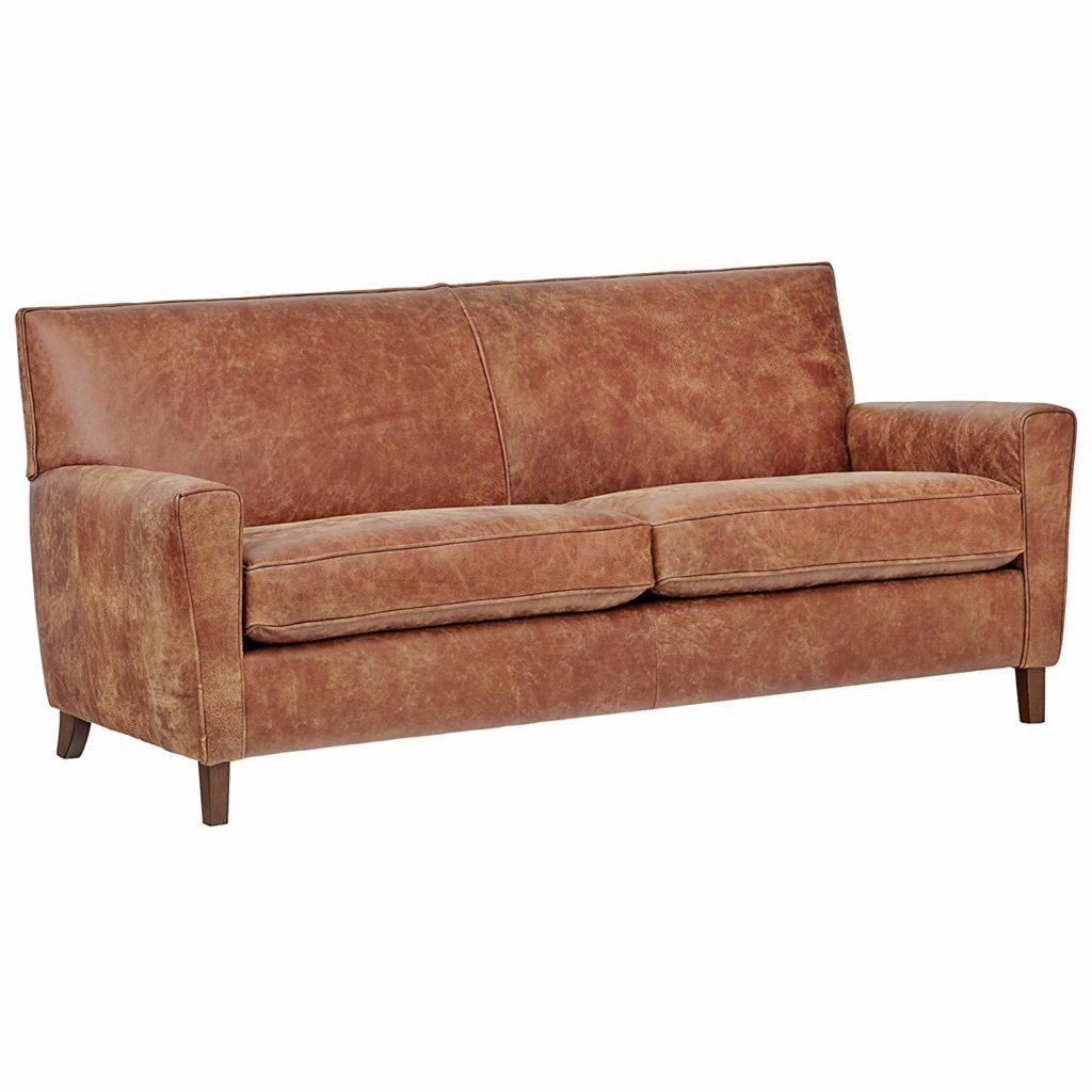 "Rivet Lawson Modern Angled Leather Sofa, 78\""W $1,648.90"