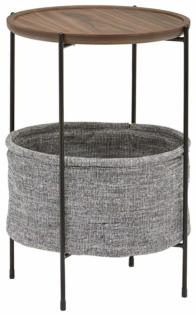 Meeks Round Side Table with Storage Basket $117.51 https://fave.co/2v1ZyuG