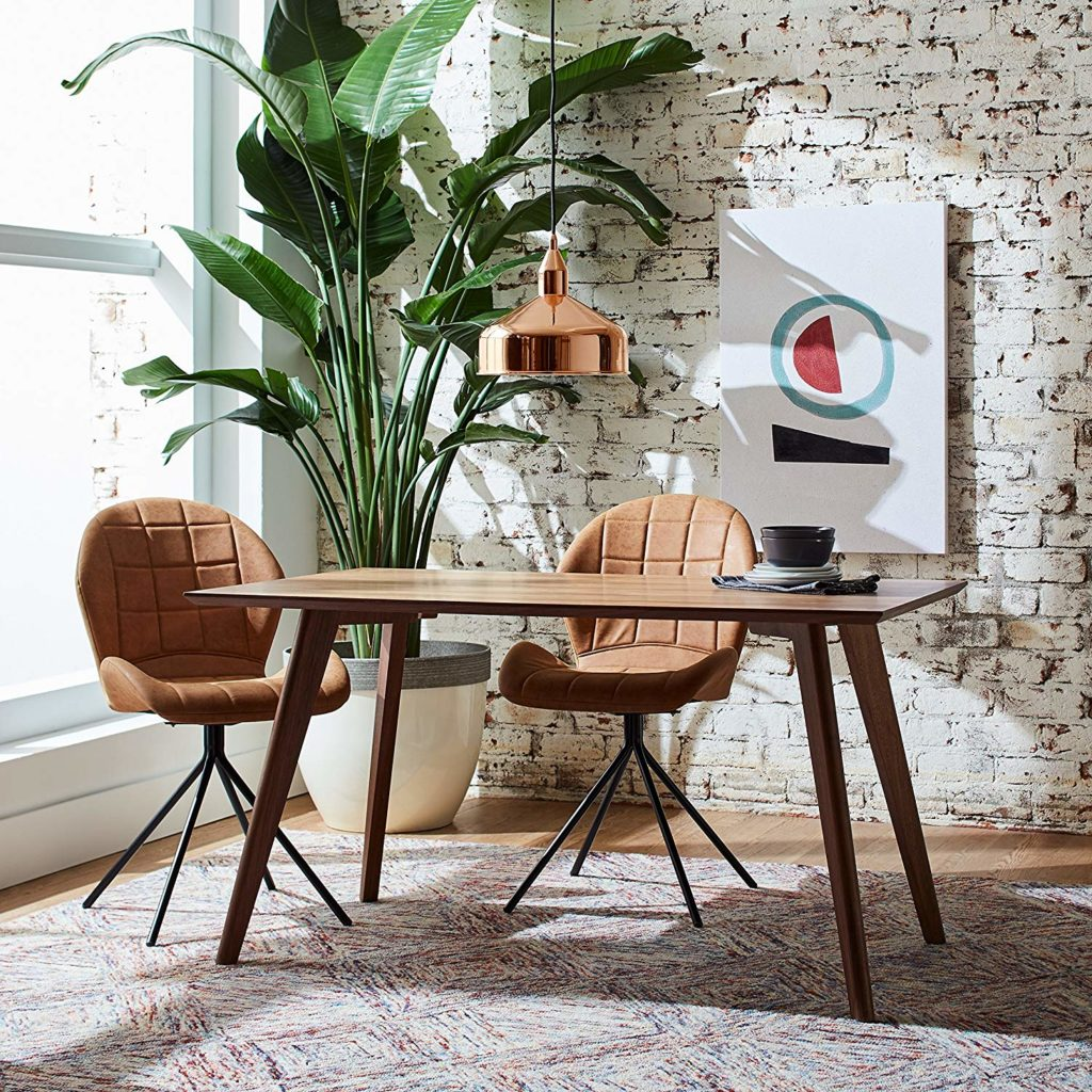 Set of 2 Space-Age Mid-Century Modern Swivel Dining Room Kitchen Desk Chairs $169.15 https://fave.co/2xbuKZ5