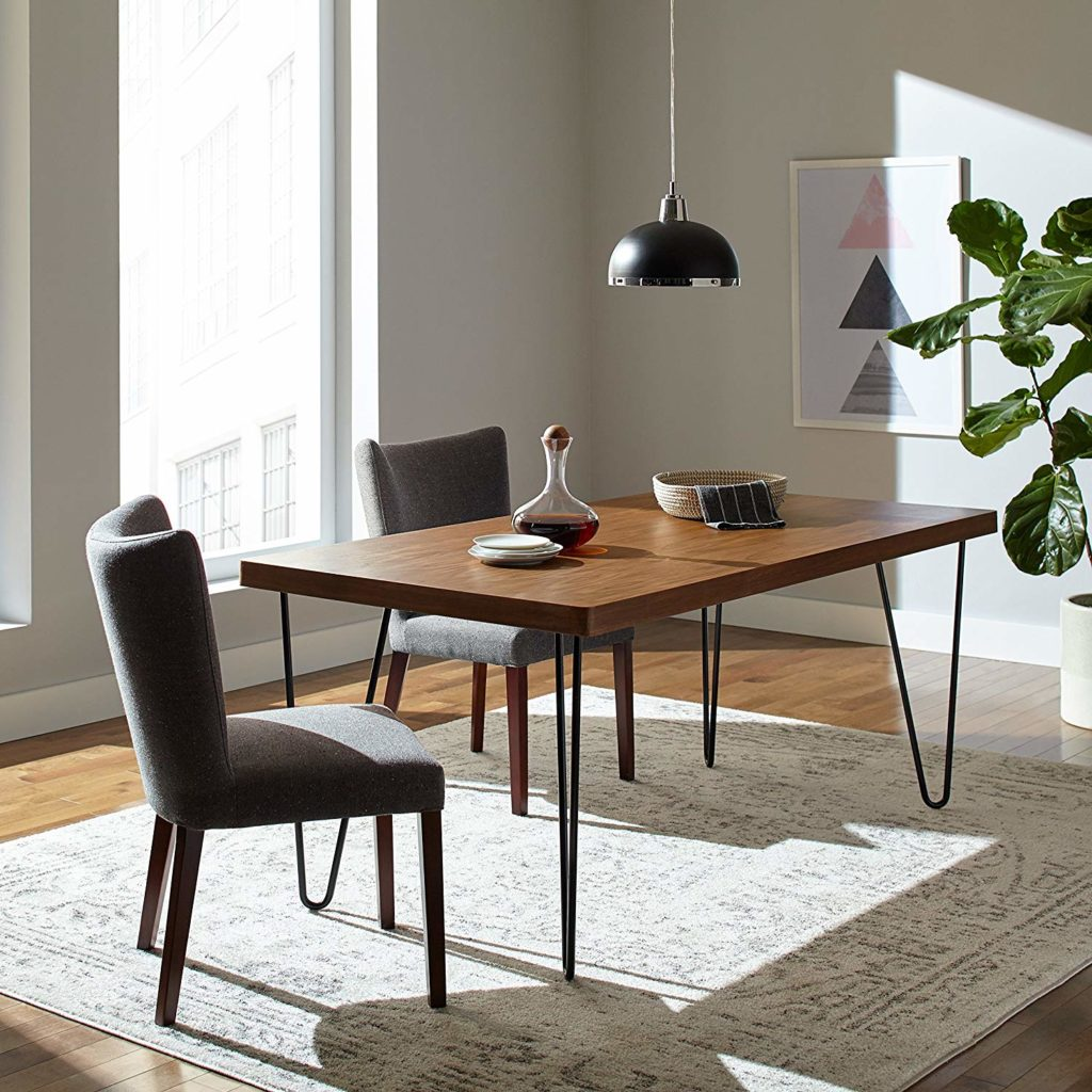 Rivet Industrial Mid-Century Modern Hairpin Dining Table $560.00