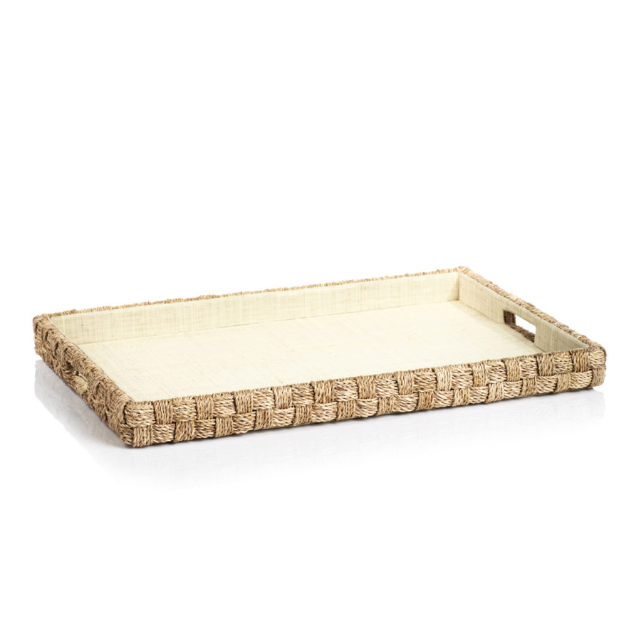 ABACA WOVEN ROPE TRAY $158.00