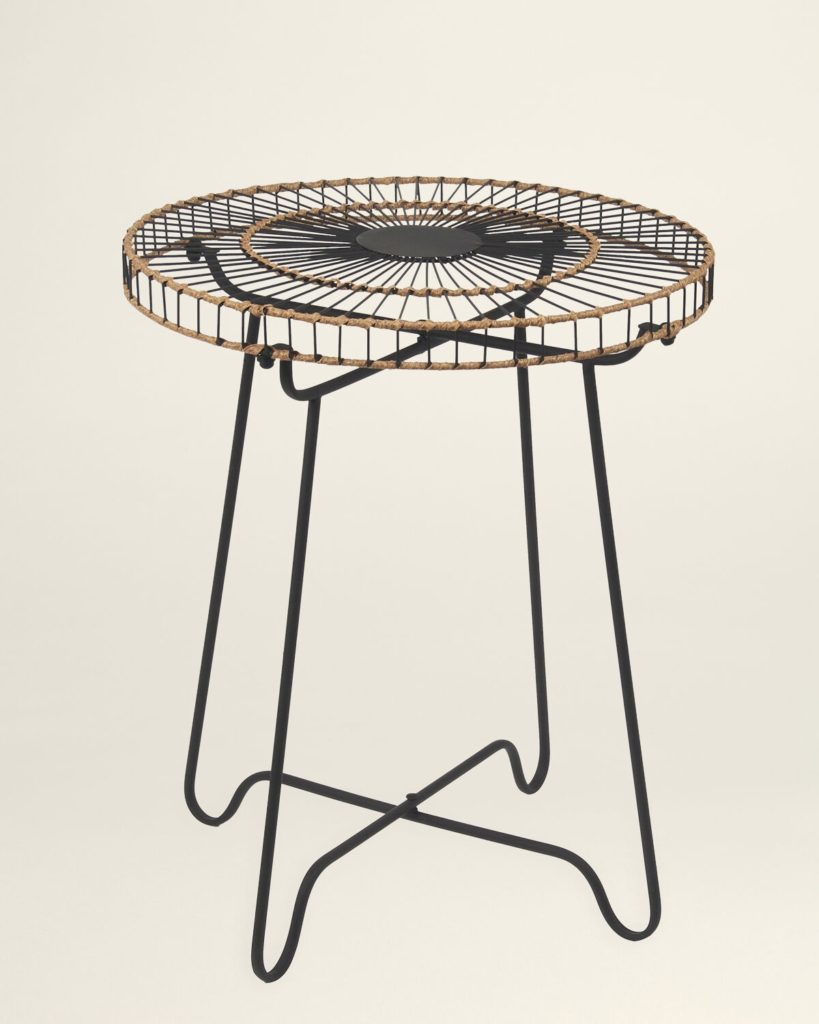 Black & Brown Metal Accent Table $49.99