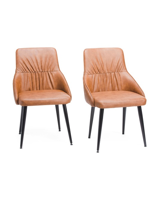 LUMISOURCE Set Of 2 Alden Dining Chairs $129.99
