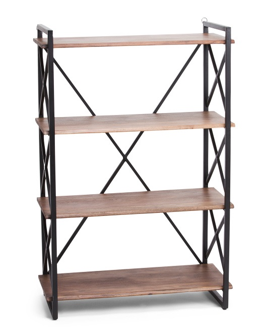HANDCRAFTED IN INDIA 4 Tier Wide Shelf $129.99 https://fave.co/2tZxc3v
