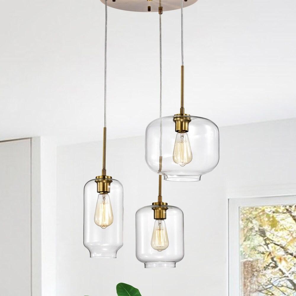 Deeni Edison 5-light Ole Satin Gold 3-light Metal Glass Chandelier $137.24 https://fave.co/2UdRUHT
