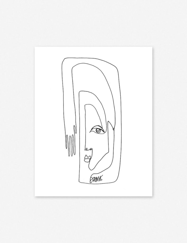 FACE + HAND PRINT BY DAMIENNE MERLINA $84