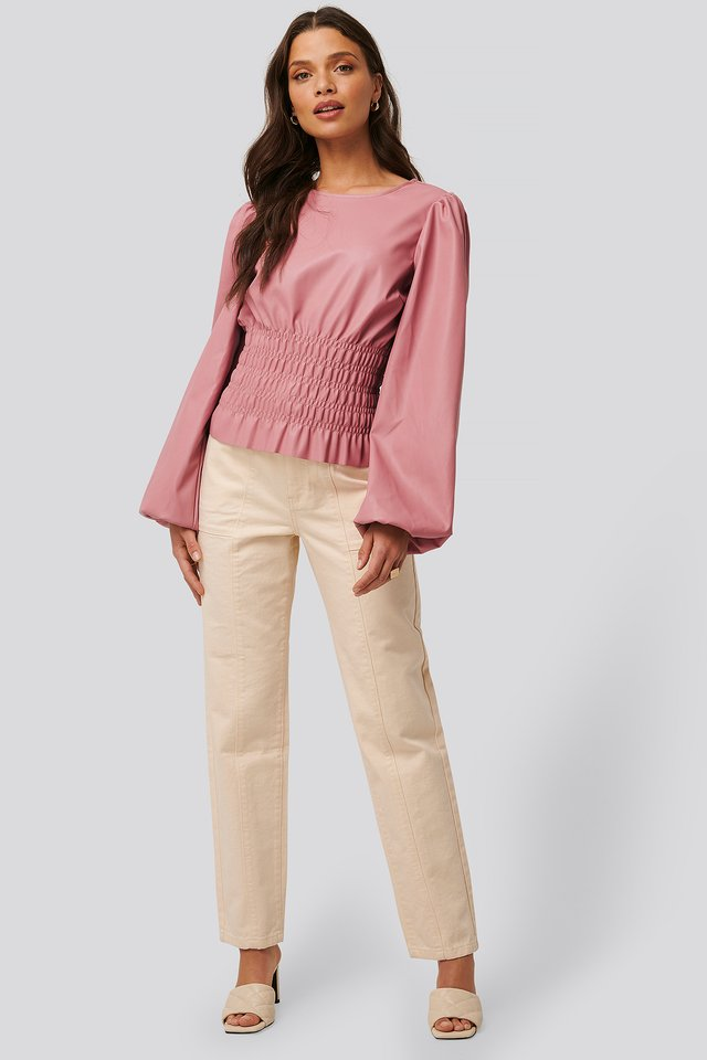 Smocked PU Top $53.95https://fave.co/2Wg133t