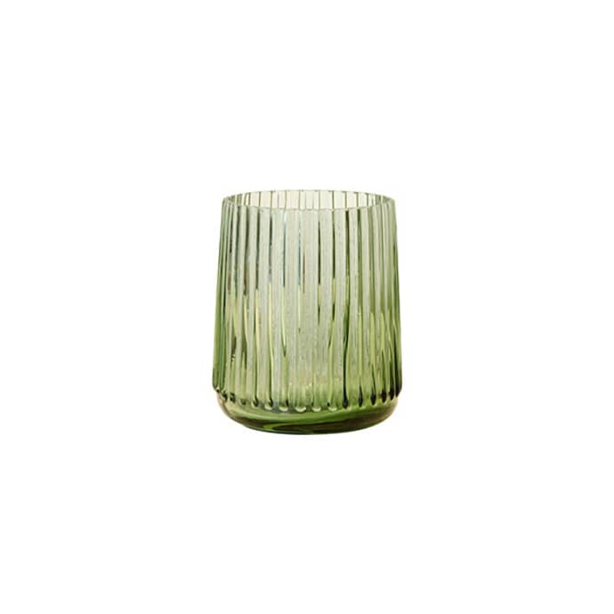 Green glass vase S $14.99