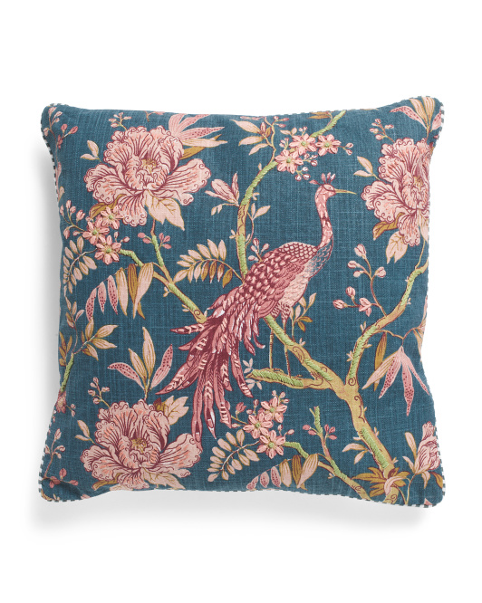 20x20 Embroidered Peacock Pillow $19.99