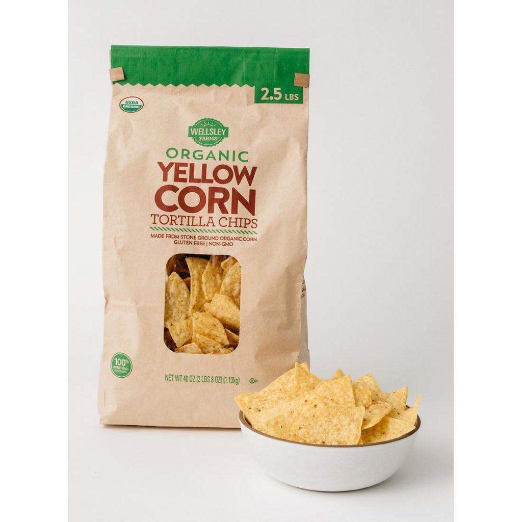 Wellsley Farms Organic Yellow Corn Tortilla Chips, 40 oz. $4.99