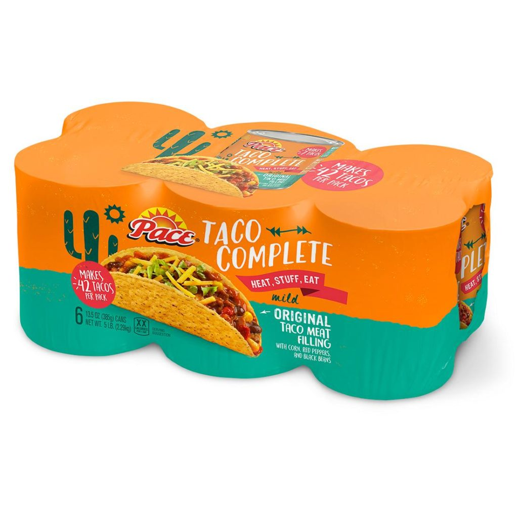 Pace Complete Taco Filling, 6 pk. $9.99