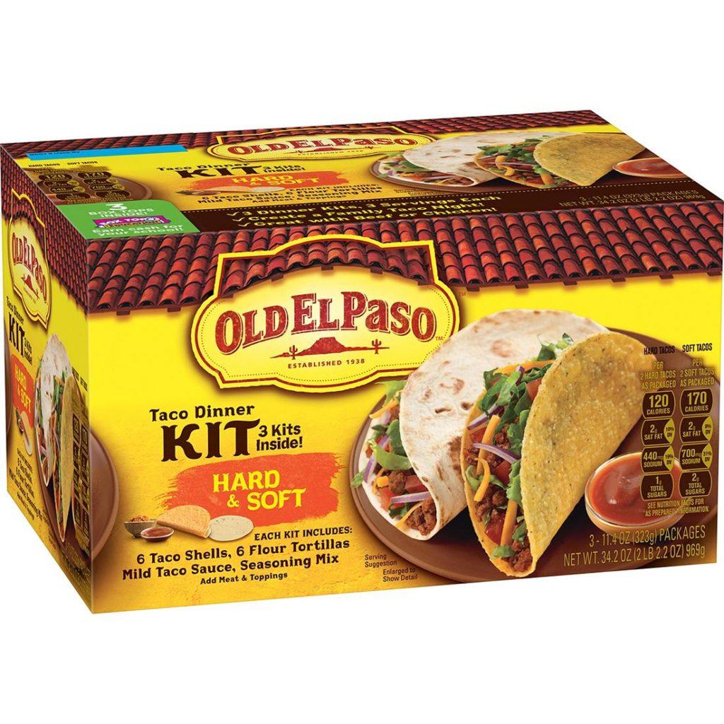 Old El Paso Hard & Soft Taco Dinner Kit, 3 pk. $4.99