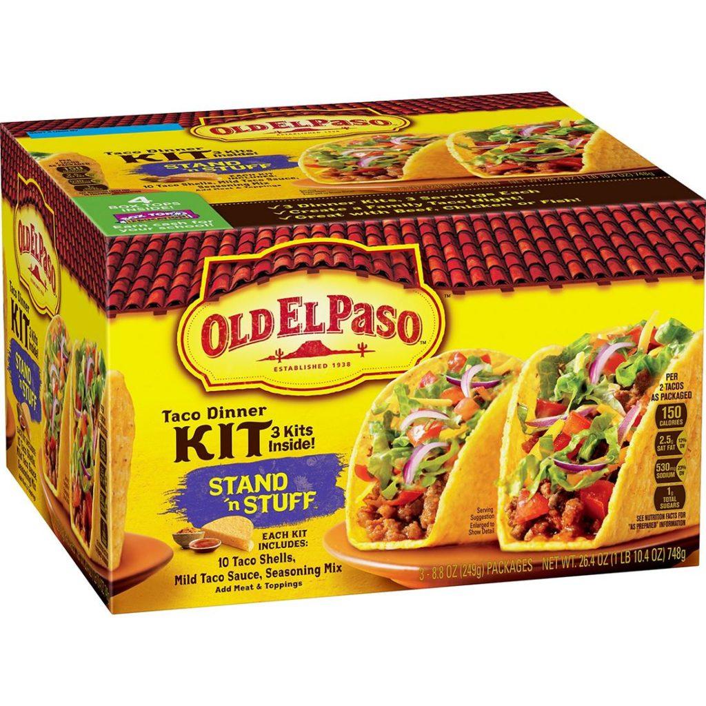 Old El Paso Stand 'N Stuff Taco Dinner Kit, 3 pk. $4.99