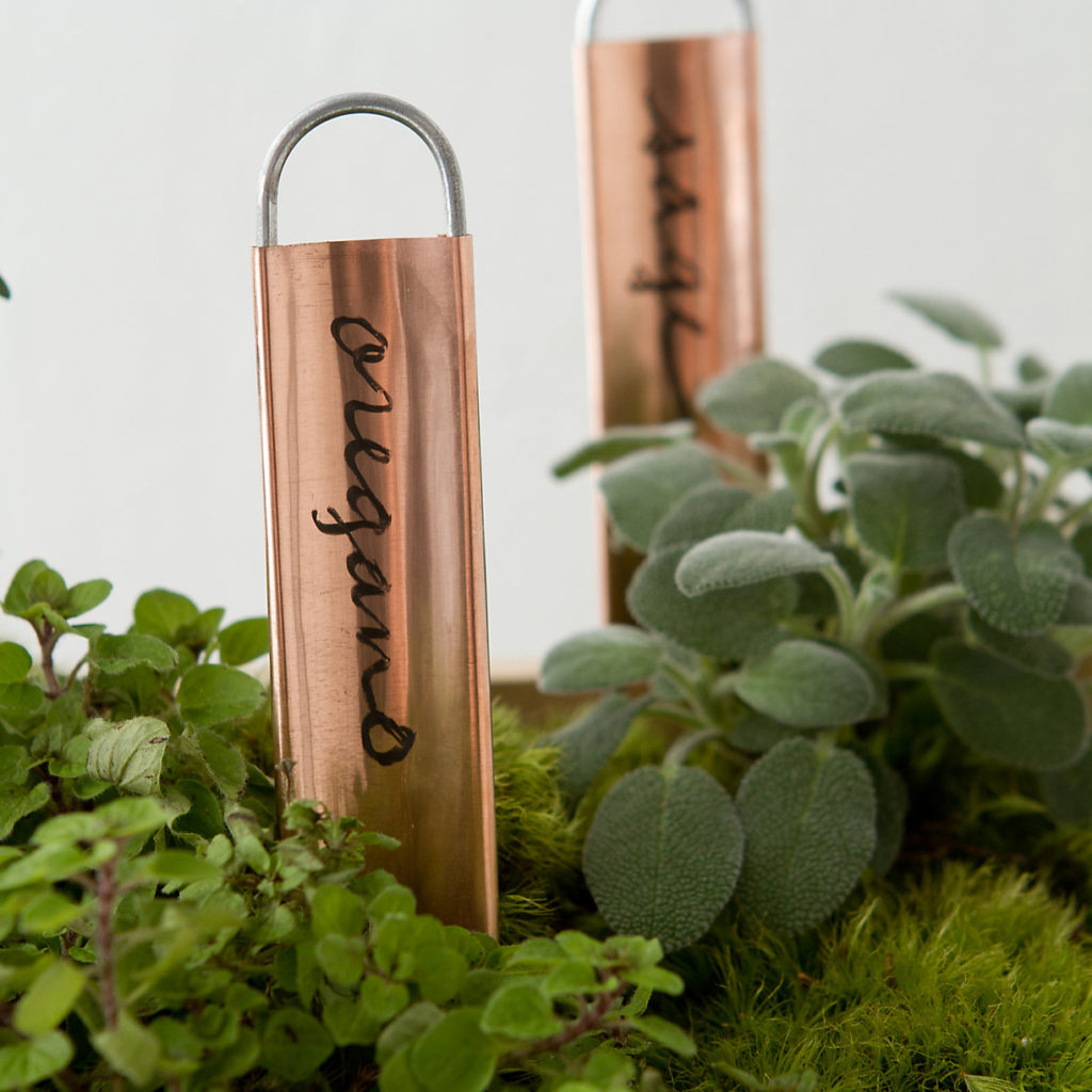 Copper Plant Markers, Vertical $18.00