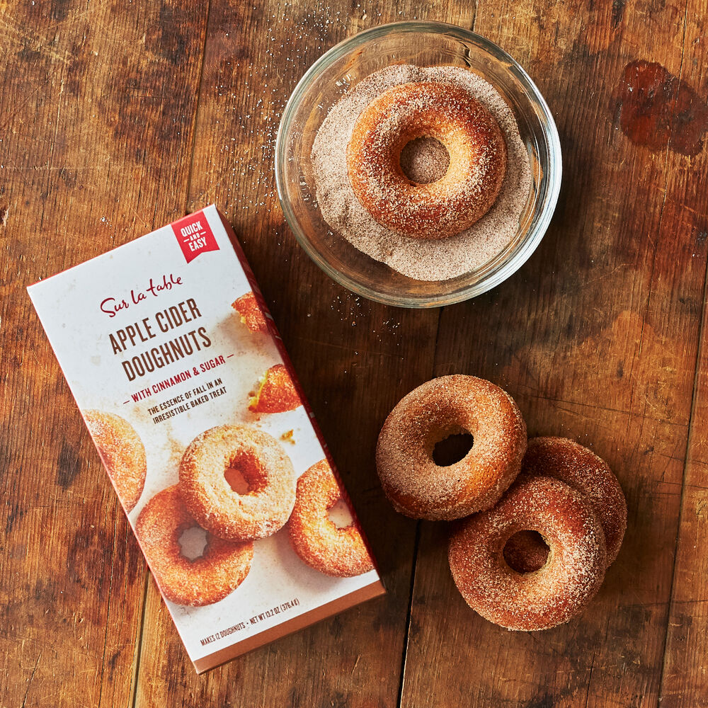 SUR LA TABLE APPLE CIDER DOUGHNUTS WITH CINNAMON & SUGAR $12.00