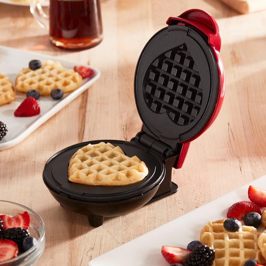 Dash Mini Heart Waffle Maker $17.99
