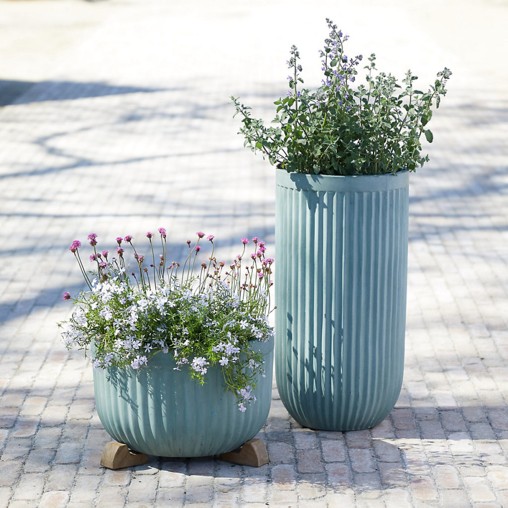 Fiber Concrete Tall Barrel Pot $98.00