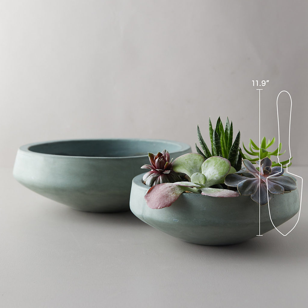 Fiber Concrete Low Bowl $48.00