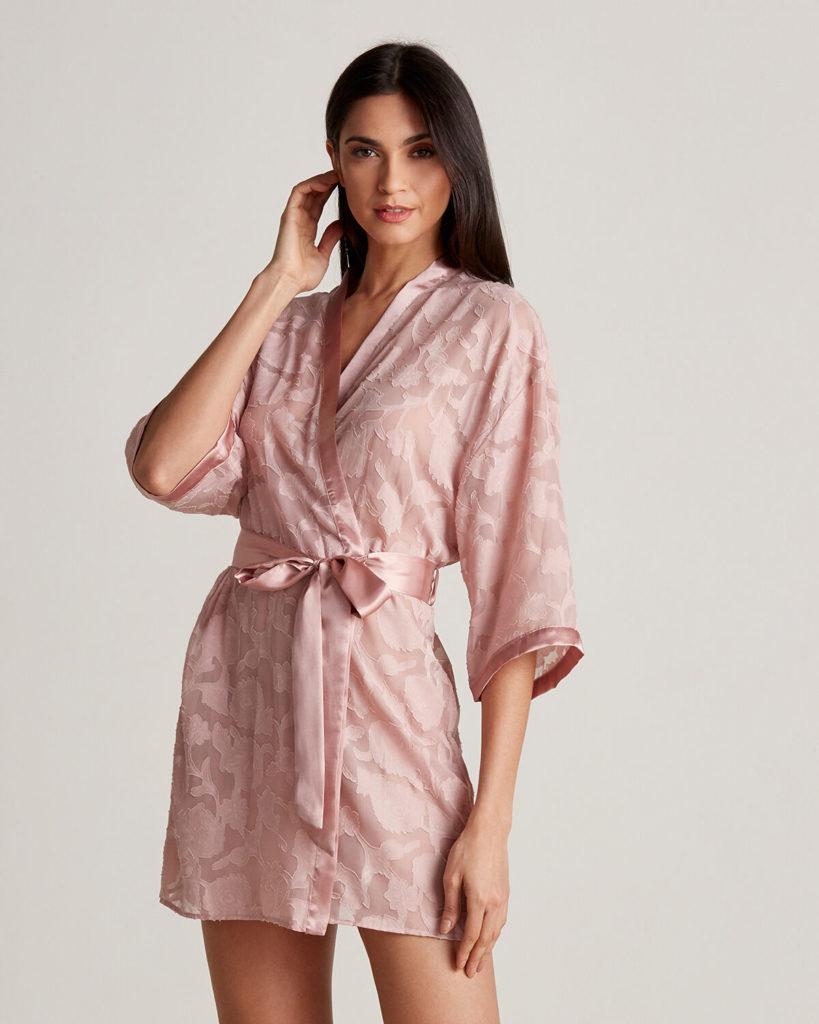 Brielle Chiffon Jacquard Robe $24.99