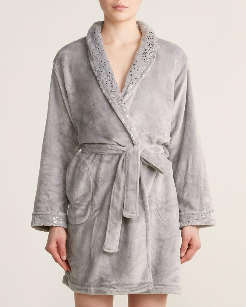 Foil Print Plush Robe $16.99