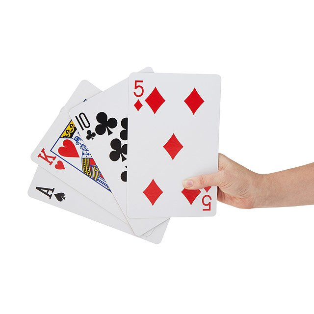 Giant Playing Cards $15.00