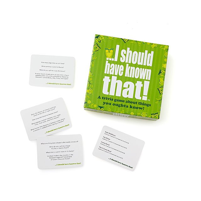 I Should Have Known That! Party Game $20.00