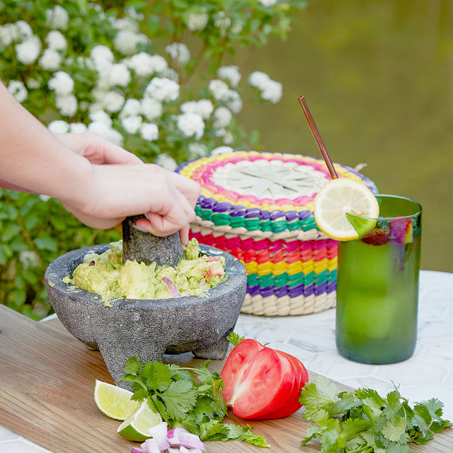Molcajete with Tortilla Basket $62.00