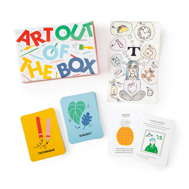 Art Out of the Box Solo Drawing Game $20.00