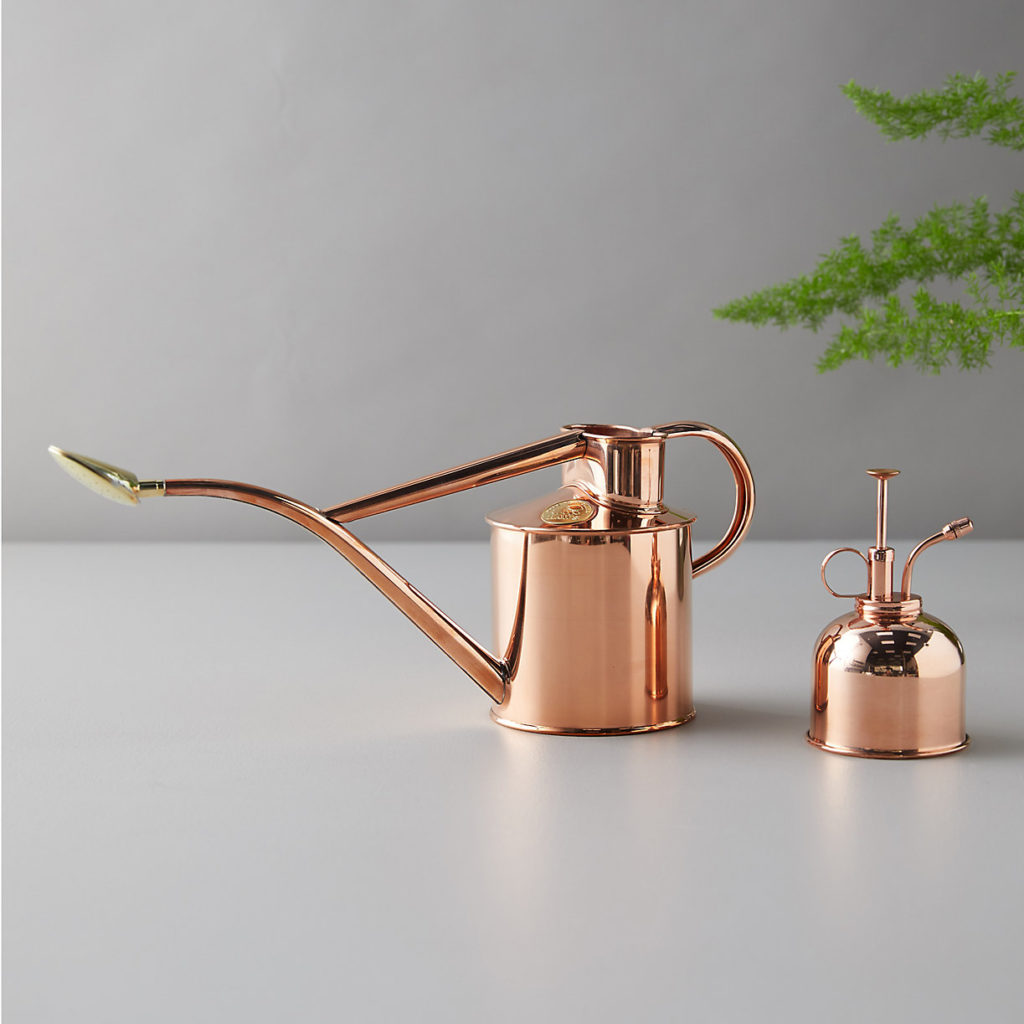 Haws 1 Liter Copper Watering Can + Mister Gift Set $128.00