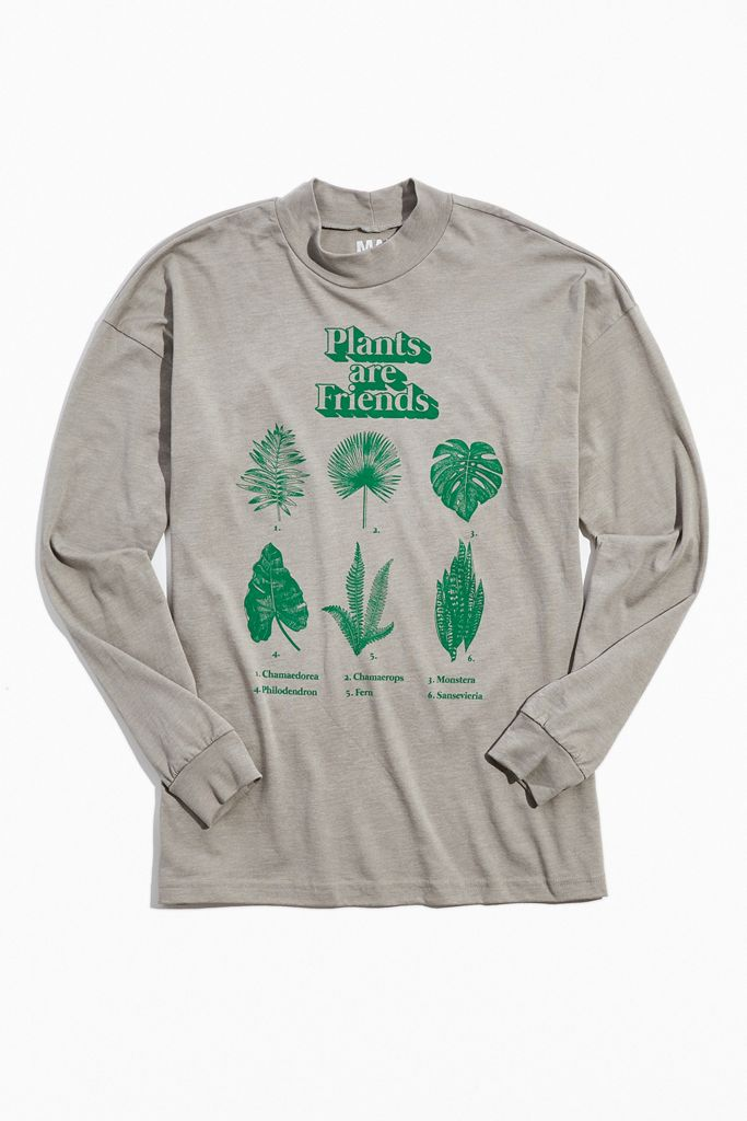 Plants Are Friends Mock Neck Tee $39.00