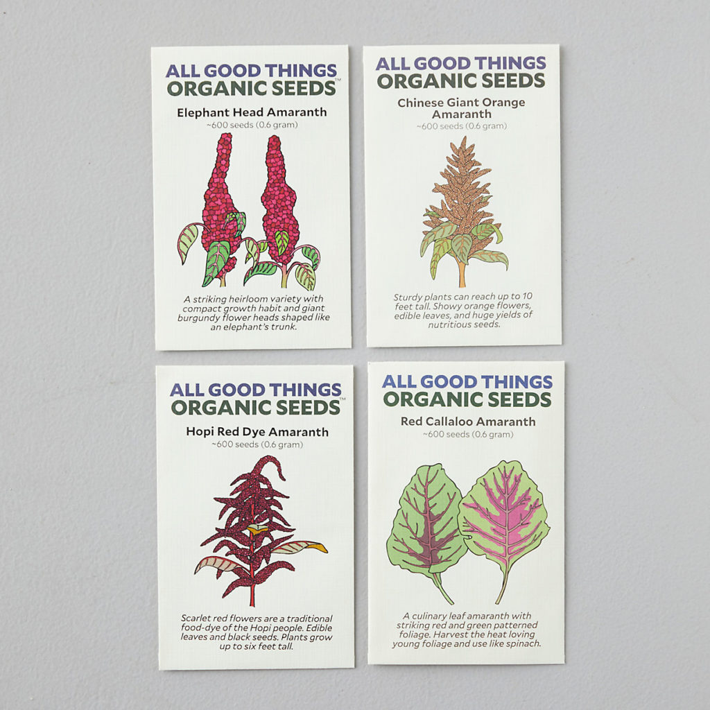 Amaranth Seed Collection, 4 Packets $15.00