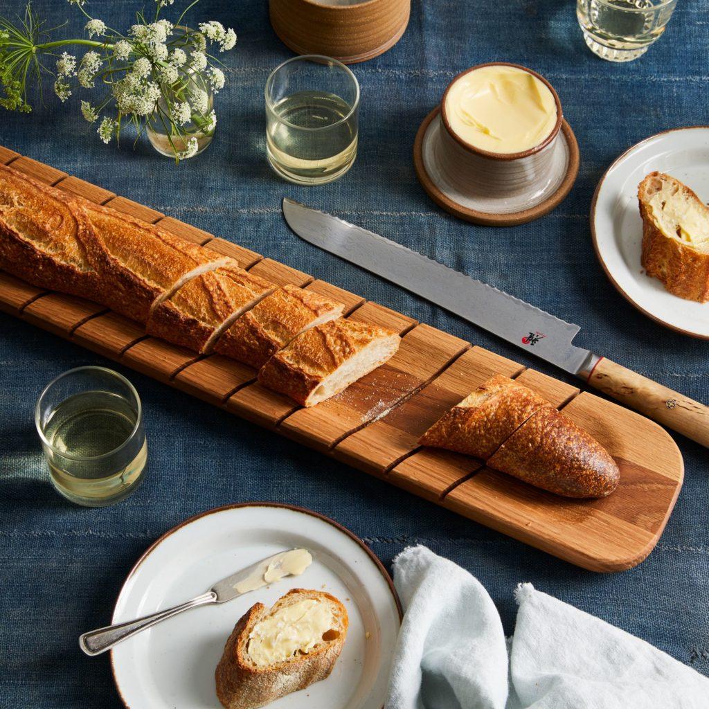 Reclaimed Wood Baguette Slicing Board $114