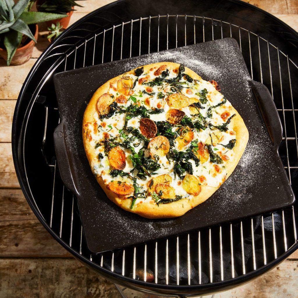 Emile Henry Ceramic Square Pizza Stone $50