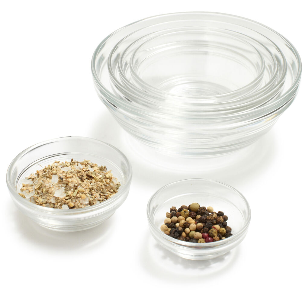 DURALEX LYS CLEAR STACKABLE BOWLS $1.95- $9.25
