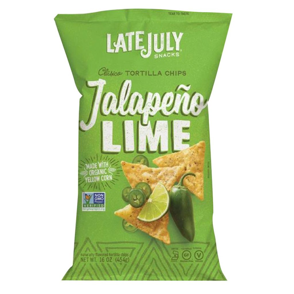 Late July Jalapeno Lime Tortilla chips, 16 oz. $4.99